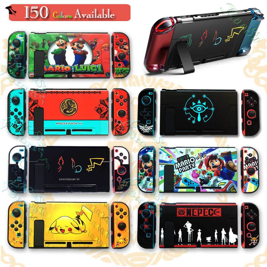 Nintendoswitch funda de cristal duro nitend Switch accesorios de transporte funda de carcasa para Nintendos Switch Skin Holder Bag