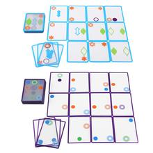 Logic game Swish - A Fun Transparent education card game logic games for kids playing cards spot board games toys for Children