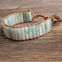 LanLi natural Jewelry Amazonium stone knit  bracelet men and women Giving presents self use