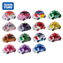 Takara Tomy Car Stack Height Matchbox Cars Hello Kitty Mini Cute Toys Juguetes De Metal Modelo De Coche Kids Christmas Gift