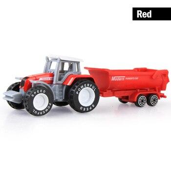 Mini modelo de trator de carro de fazenda fundido veículos de brinquedo criança enineering modelo de carro trator vários estilos para crianças presente chritmas
