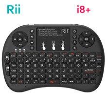 Original Rii Mini i8 + clavier 2.4G sans fil rétro éclairé clavier anglais russe espagnol TouchPad Air souris pour Android TV BOX PC