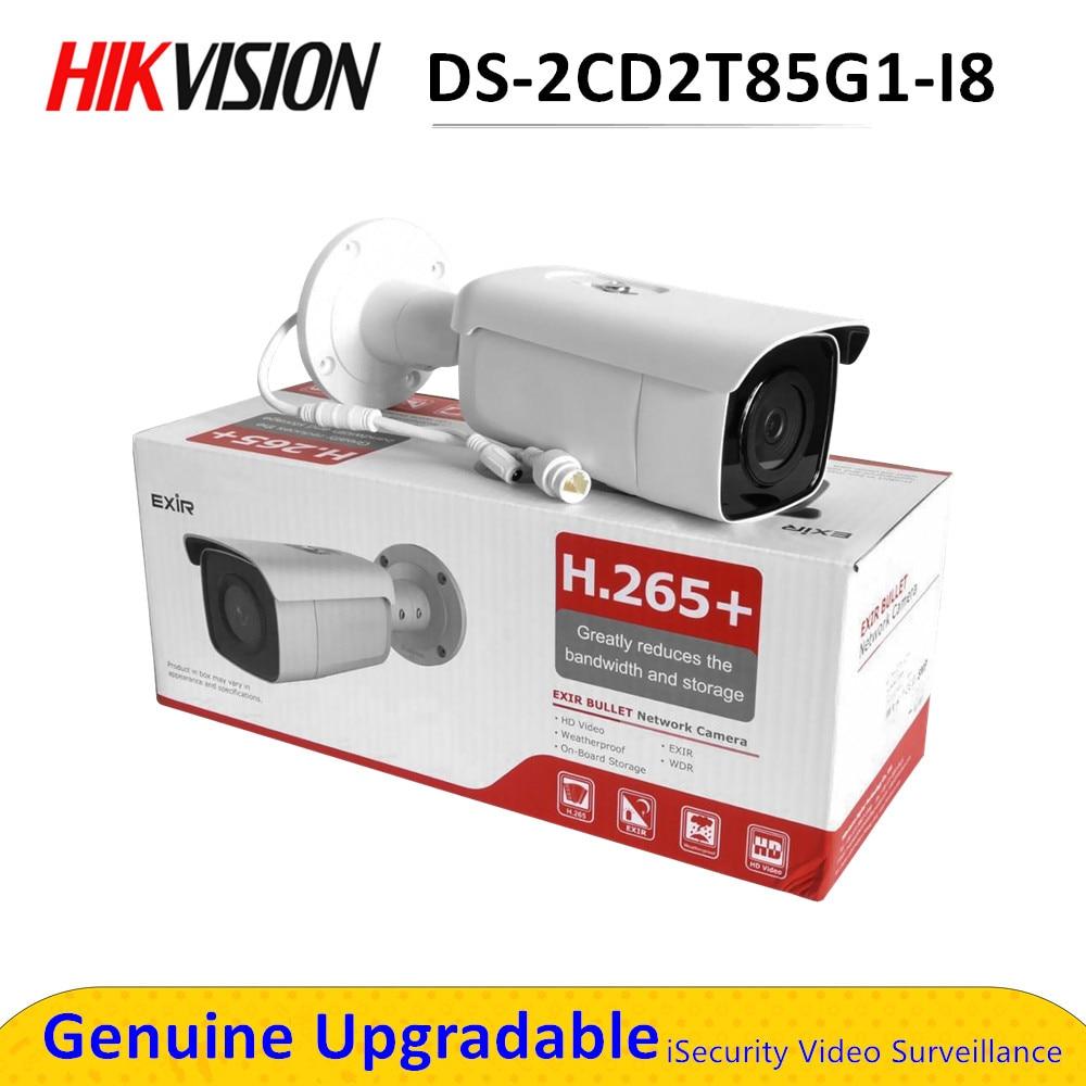 DS-2CD2T85G1-I8 remplacer DS-2CD2T85FWD-I8 8mp Hikvision caméra 4K DarkFighter balle sécurité cctv caméra POE 80m IR