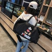 Summer 2019 New Mickey Travel Bag Large Capacity Waterproof Baggage Short distance Travel Baggage