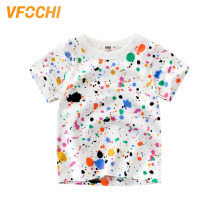 VFOCHI 2019 Brand Boys T Shirt Colorful Oil Print Kids T Shirt Teenager Boy Tee Tops Cute Boy Clothes 2-10Y Baby Boy T Shirts цена и фото
