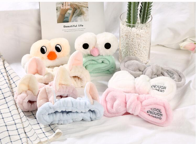 100pcs Baby Children Wash A Face With Plush Korean Cute Girl With Lovely Headgear Hair Hairpin Hair Band