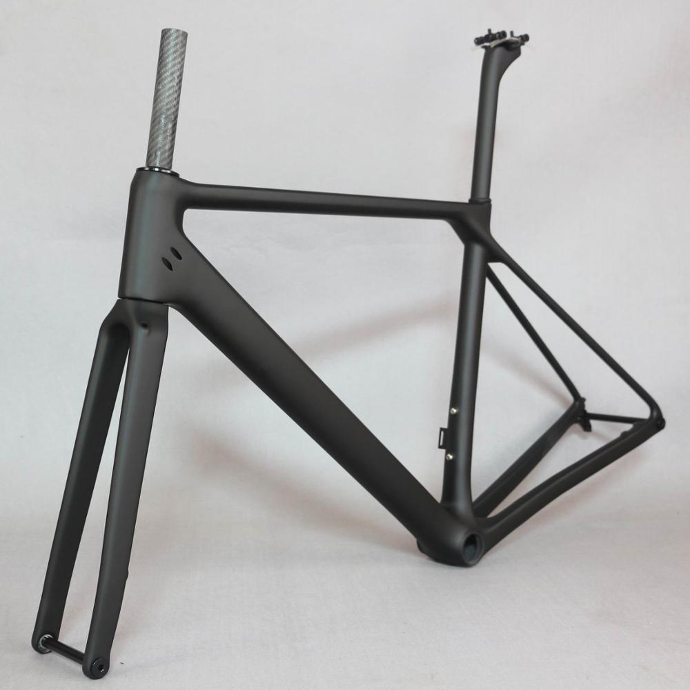 SERAPH Bike Flat Mount Disc Carbon Road Frame  Bicycle Frameset FM009 Axle Thru  , New EPS Technology Disc Road Bike Frame
