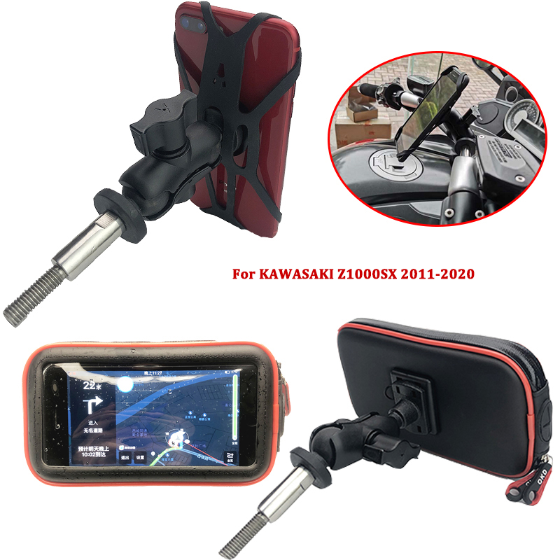 <font><b>Z1000SX</b></font> Phone Action Camera Holder Motorcycle GPS Navigation Bracket fits For <font><b>kawasaki</b></font> Z1000 SX z1000 sx 2011-2020 2018 <font><b>2019</b></font> image