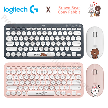 Logitech keyboard Mouse Multi-Device Bluetooth Wireless Gaming Mini ConyRabbit BrownBear for Mac Chrome Windows ios Android K380 mouse logitech wireless mouse m590 multi device silent graphite tonal