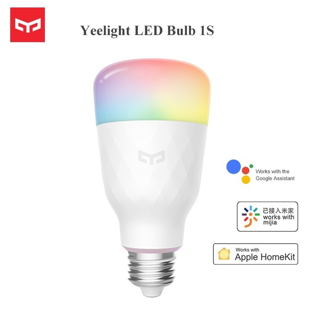 Newest Yeelight RGB LED Smart Bulb 1S Colorful E27 8.5W 800 Lumens Smart WiFi Light Bulbs Work For Apple Homekit Remote Control