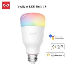 최신 Yeelight RGB LED 스마트 전구 1S 다채로운 E27 8.5W 800 루멘 스마트 WiFi 전구 애플 Homekit 원격 제어에 대 한 작동