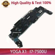NEUE 16822-1 LRV2 MB 448.0A913.0011 Mainboard Für Lenovo ThinkPad Yoga X1 Laptop Motherboard i7-7500 16GB RAM 01YR149 test 100%
