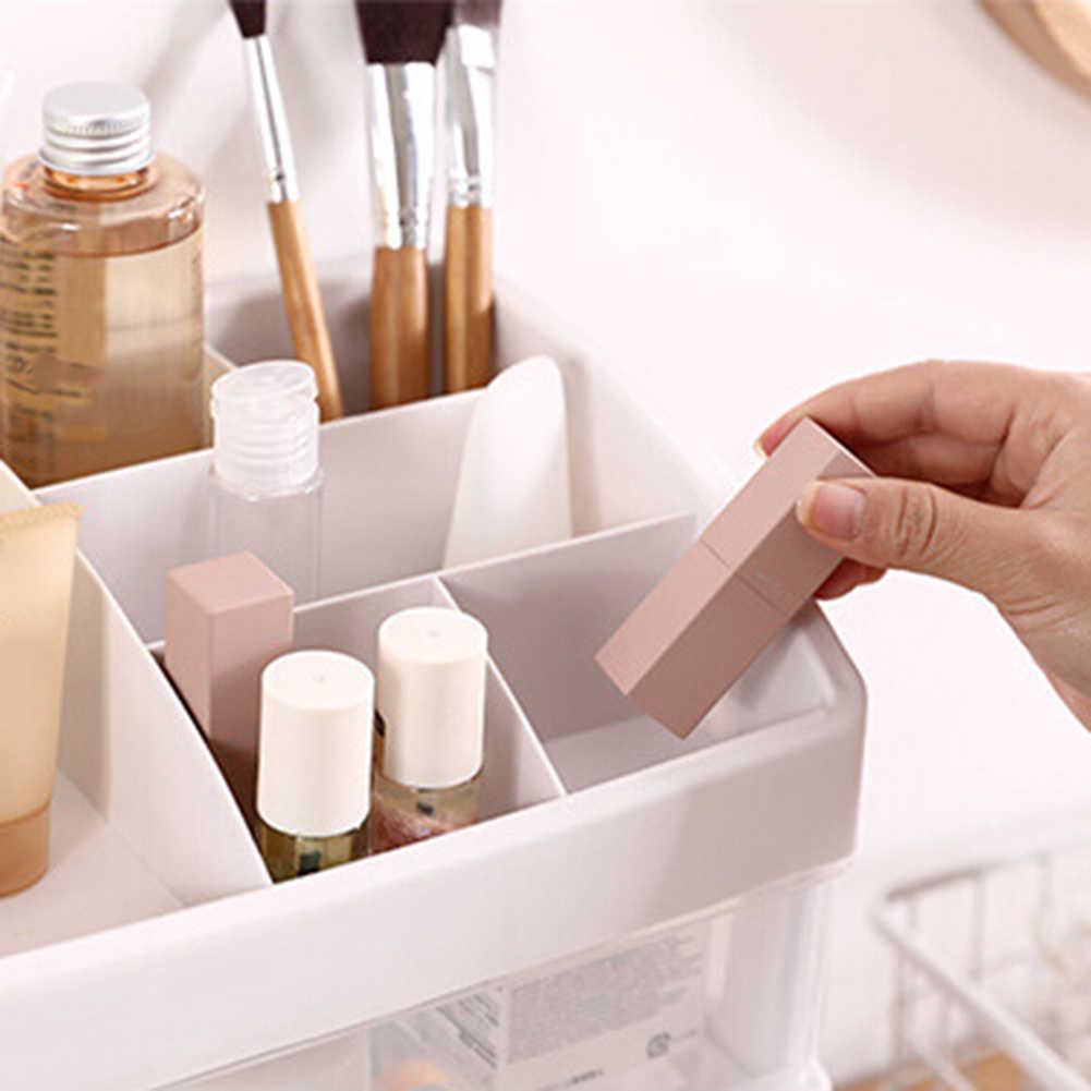 2/3 couche en plastique cosmétique boîte de rangement maquillage organisateur brosse boîte de rangement bijoux étui articles divers support bijoux organisateur boîte