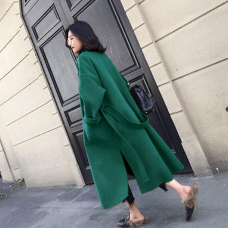 Liva girl Long Coat Winter Coat Women Belted Solid Coat Women's Jacket Women's 5 Colors Coat wool Coat 3