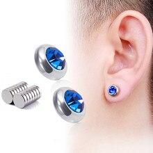 цены 1 pair diamond stud earrings boys and girls stainless steel earrings without ear pierced earrings titanium steel stud earrings