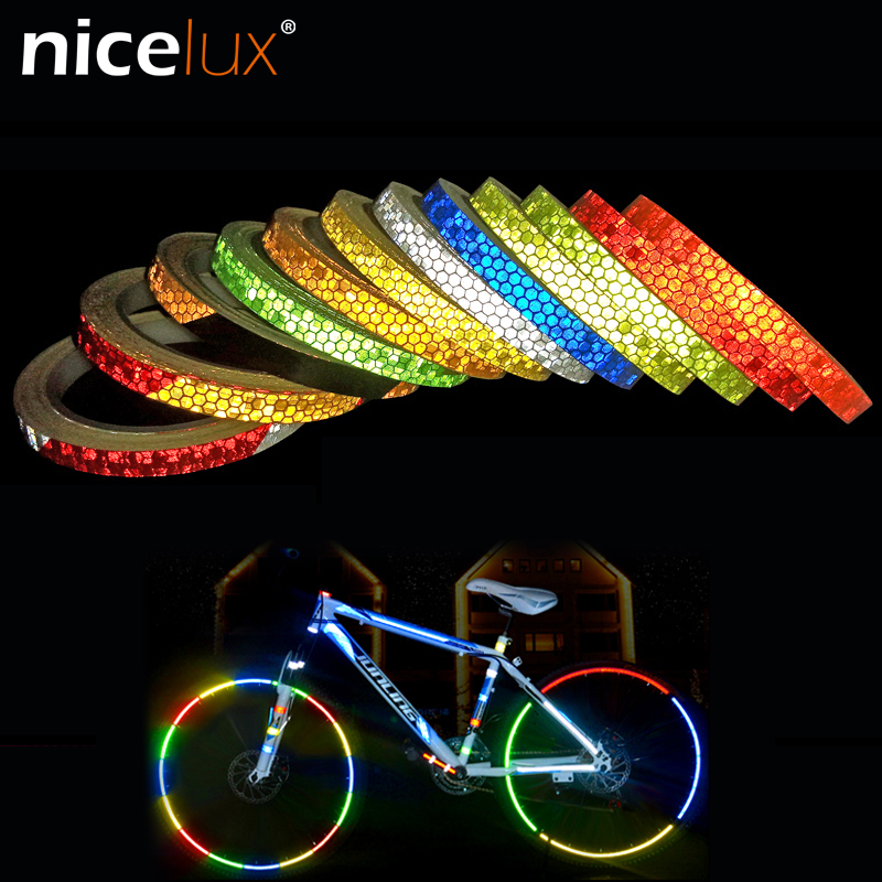 8meter Reflective Tape Fluorescent MTB Stickers Adhesive Waterproof Tape Bike Stickers Bicycle Accessories Glow In The Dark 1cm