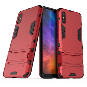 Image 2 - For Case Xiaomi Redmi 9A Cover For Redmi 9A Rubber + Hard Plastic Kickstand Back Cover For Xiaomi Redmi 7 8 9 6A 7A 8A 9A Fundas