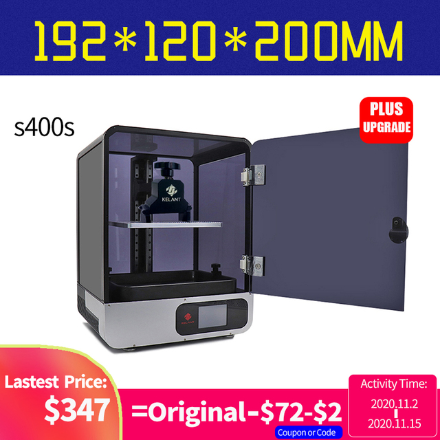 "Kelant S400S UV Resin 3D Printers 8.9"" LCD 2K 3d Printer Touch screen DLP SLA printing size 192*120*200MM impresora diy kit"
