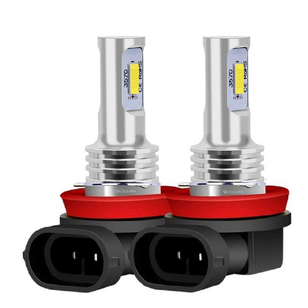 2Pcs Baru H8 H11 HB4 9006 Berkualitas Tinggi CSP Lampu LED Mobil Anti Kabut Lampu Auto Mengemudi Lampu depan Foglamps 6000K Putih