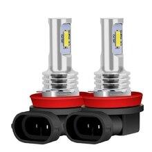 2Pcs ใหม่ H8 H11 HB4 9006 คุณภาพสูง CSP หลอดไฟ LED หมอกโคมไฟอัตโนมัติขับรถวิ่งไฟด้านหน้า Foglamps 6000K สีขาว