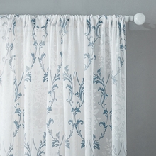CDIY European Floral Tulle Curtains for Bedroom Living Room Kitchen Sheer Voile Curtains Window Screening Drapes Blinds Custom cdiy tulle curtains for living room bedroom kitchen modern sheer curtains for window screening linen voile curtains drapes door