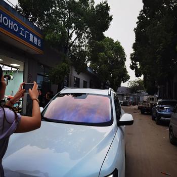 Folia zaciemniająca okna samochodu SUNICE Chameleon folia zaciemniająca okna samochodu szkło barwiące folia zwiajana VLT 80 Film słoneczny samochód Auto dom dekory 50x300cm tanie i dobre opinie 80 -100 CN (pochodzenie) 1inch Boczna szyba Zabezpieczenie słoneczne na bocznym oknie Folie okienne i ochrona słoneczna