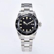 Huayra часы Автоматическая светящаяся рука роскошные для мужчин 40 мм механизм нержавеющая сталь чехол браслет Алюминиевый ободок черный циферблат N117