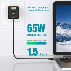 Image 3 - BaySerry 65 واط غان USB C تهمة سريعة 4.0 3.0 الاتحاد الأوروبي التوصيل نوع C PD شاحن نوع C آيفون 12 برو ماكس سامسونج محمول شحن سريع