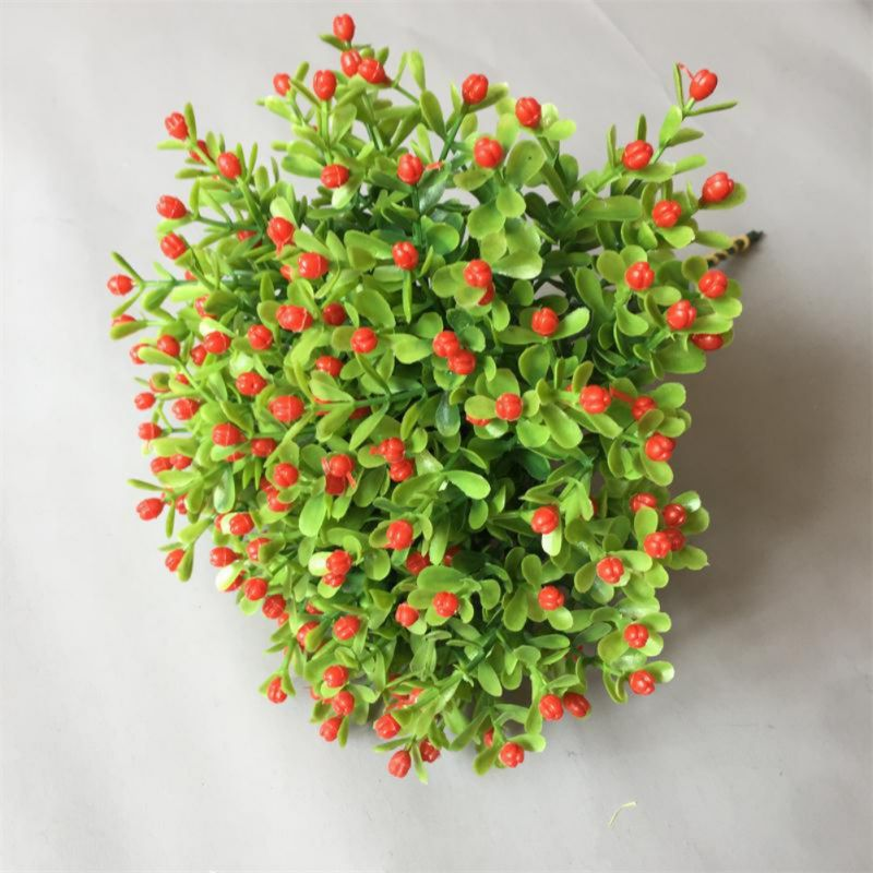 Artificial Flowers Bundles, Fake Outdoor Faux Plastic Greenery Shrubs Plants Decor For Outside Hanging Planter Wedding