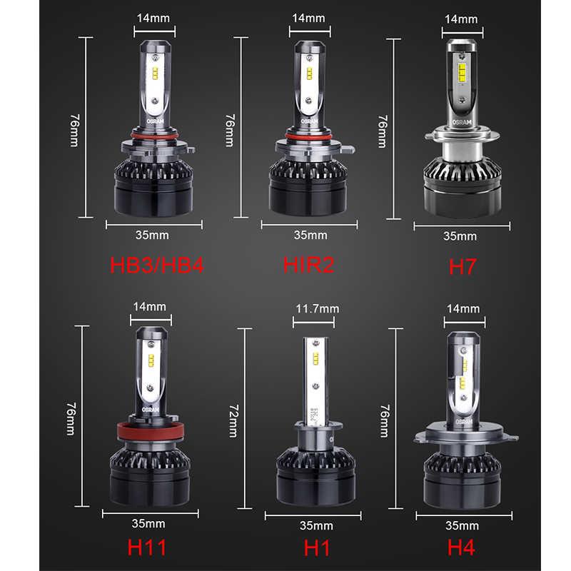 Лампа Ксеноновая OSRAM 2X турбо светодиодный фар H7 H11 H1 9012 HIR2 9005 9006 HB4 HB3 H4 светодиодный высокий низкий Тип H16 светодиодный Противотуманные огни H8 6000 К белый свет