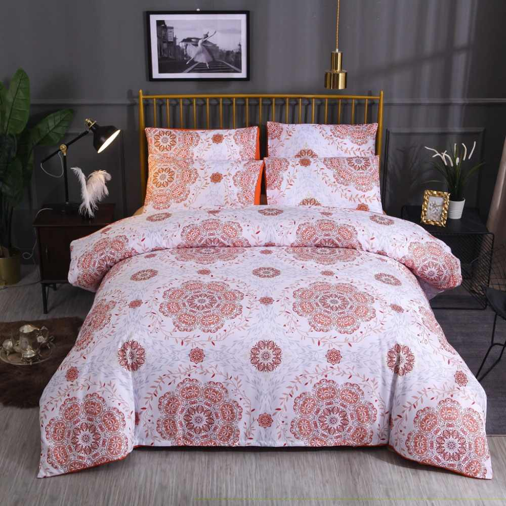 Quilt Cover Set Polyester Bed Cover Set Bedding Bedding Bohemian National Wind Quilt Without Sheet Cover Three-piece W726