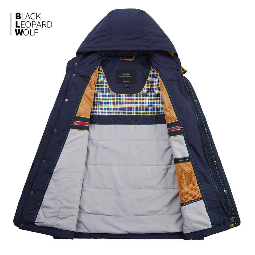 Blackleopardwolf 2019 nuovo di arrivo di inverno del rivestimento degli uomini di top balck colore sottile del cotone giù gli uomini giacca di marca mens di modo MC-17108