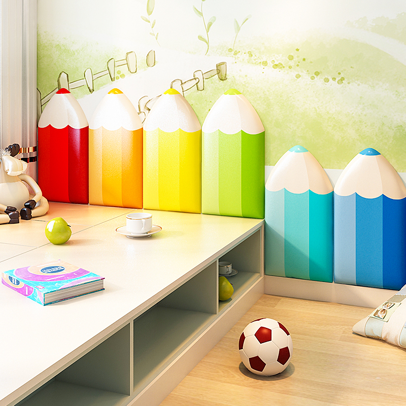 Children's Tatami Baby Anti-collision Wall Stickers Headboard Soft Package Bedroom Wall Surrounding Cartoon Wall Self-adhesive