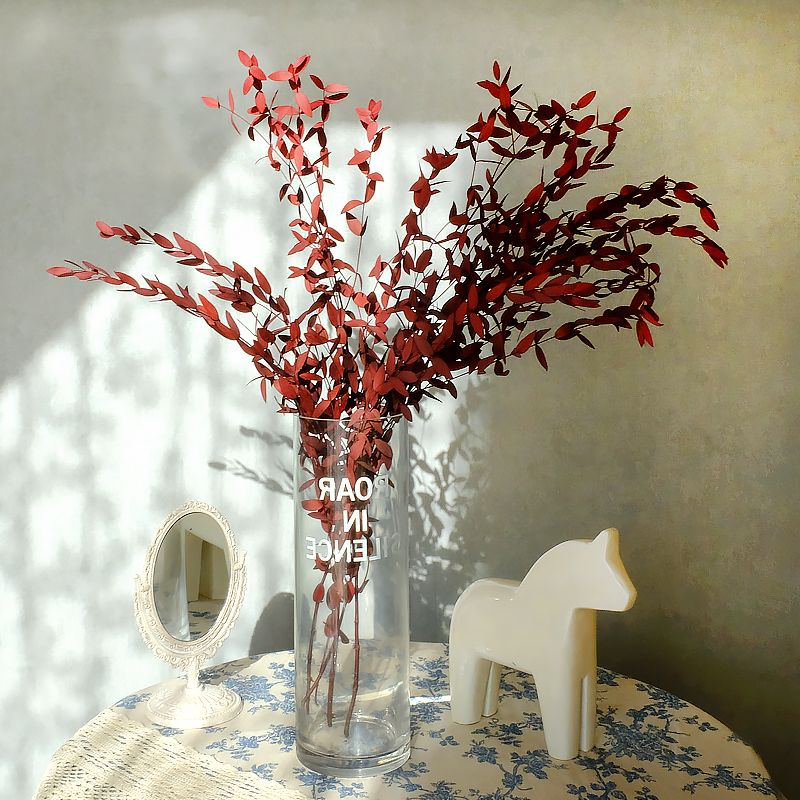 Вечный эвкалипт настоящие сушеные цветы Рождественская вечеринка домашний декор искусственные растения свадебное украшение