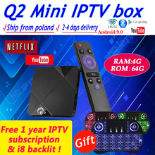 A95X Q2 4k tv box andriod 9.0 android media player lifetime iptv 4G  64GB WiFi No Yearly fee Google Netflix Youtube Smart TV box android 7 1 smart tv box rk3328 4g 32g ricevitore tv 4 k 2160 p 3d wifi media player play store netflix youtube iptv set top box