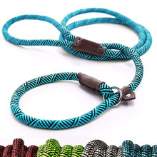 Durable Dog Slip Rope Leash Adjustable Loop Collar Comfortable Leash Supports The Strongest Pulling Large Medium Dogs