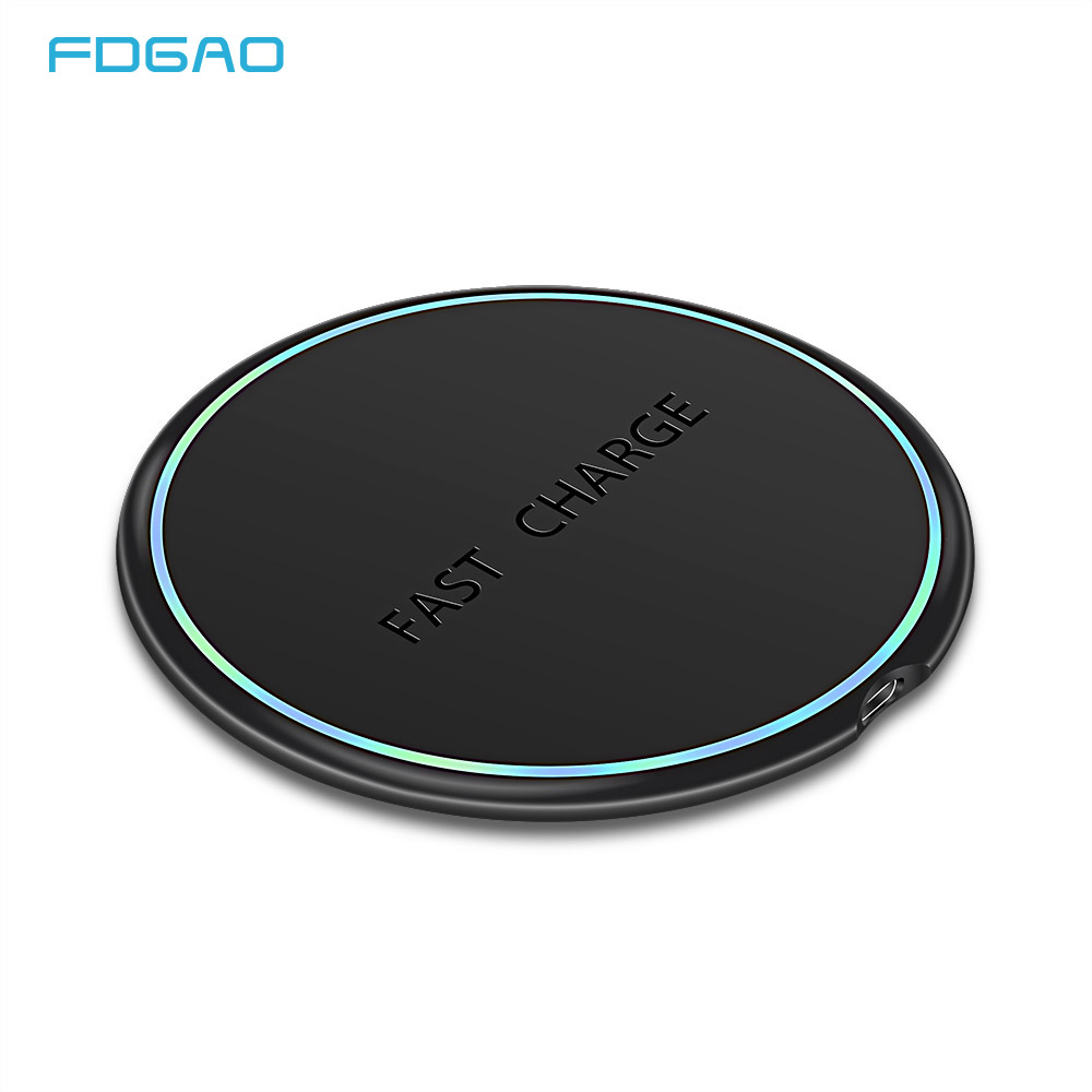 FDGAO Qi Wireless Charger 10W Fast Wireless Charging Pad For IPhone 11 Pro X XS MAX XR Samsung S9 S10 Note 9 10 For Xiaomi Mi 9