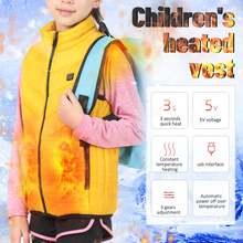 Детский хлопковый жилет с usb подогревом куртка термостатический