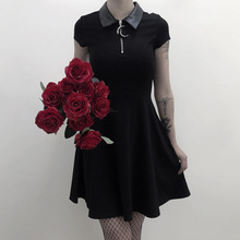 Aesthetic Vintage Pleated Evenging Party Dresses Gothic Eleg