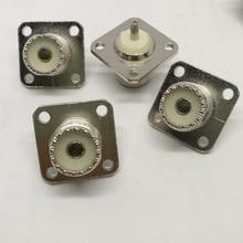 10 قطعة 100 قطعة UHF المقبس SO239 أنثى لحام موصلات لوحة جبل لمحول PL 259