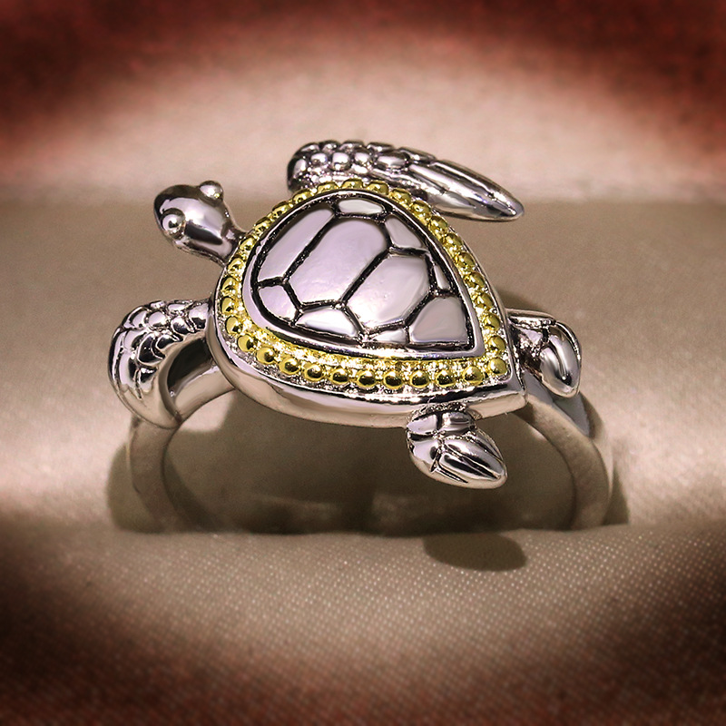 New Design Animal Tortoise Ring 925 Sterling Silver Filled Jewelry Wedding For Women/men Female Rings Gifts Turtle Ring
