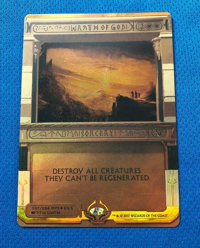 Wrath Of God Invocations (MP2) Golden Holofoil Magician ProxyKing 8.0 VIP The Proxy Cards To Gathering Single Mg Card.