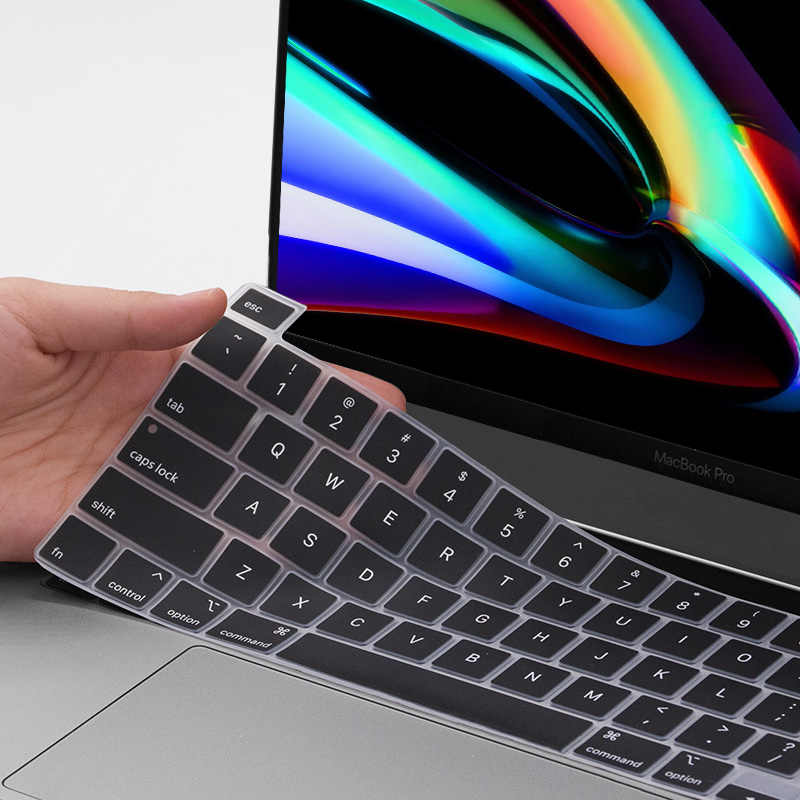 Silikon Keyboard Cover untuk MacBook Pro 15 Inch 2019 A2141 Model Keyboard Mencakup Film Anti Gores Melindungi MacBook Pro 16
