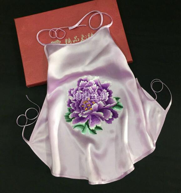 Sous-vêtements chinois traditionnels 100% soie Suzhou broderie ceinture ventrale femmes