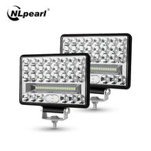 NLpearl 4 5 6 Inch 54W 108W 144W LED Bar Cho Tắt Đường Xe Tải 4X4 Atv Thuyền Máy Kéo Điểm Lũ Chùm LED Làm Việc 12V 24V