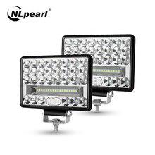 NLpearl 4 5 6 pouces 54W 108W 144W barre de lumière LED pour camion hors route 4x4 Atv bateau tracteur Spot faisceau d'inondation LED lumière de travail 12V 24V