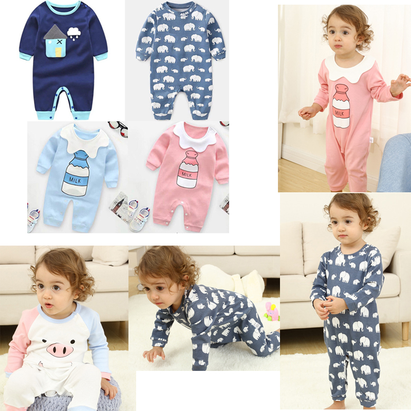 Baby Clothes Newborn Baby Infant Boy Girl Romper Jumpsuit Baby Long Sleeve Bodysuit Outfits For Autumn And Winter