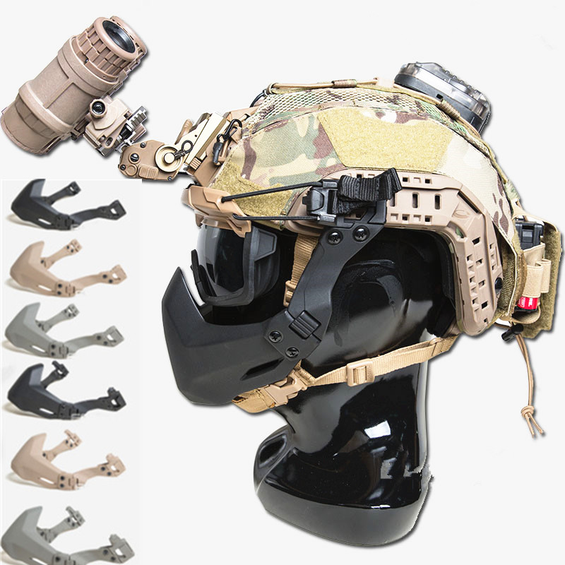 Hot FMA Half Seal Mask For Tactical Helmet Accessories Outdoor Army Helmet Airsoft Folding Mask
