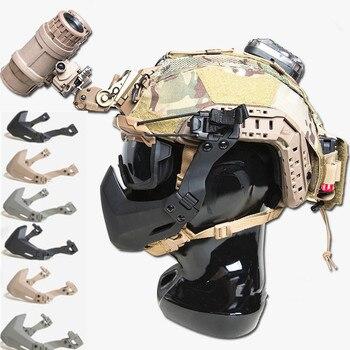 Hot FMA Half Seal Mask For Tactical Helmet Accessories Outdoor Army Helmet Airsoft Folding Mask new outdoor black airsoft helmet mesh airsoftsports motorbike helmet helmet full face mask army fan