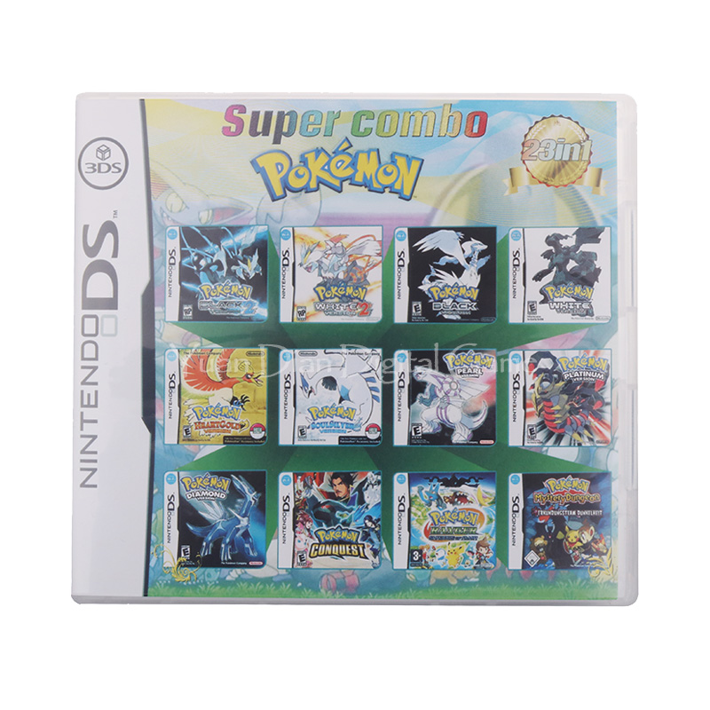 23 In 1 Compilation Video Game Cartridge Card For Nintendo DS 3DS 2DS Super Combo Multi Cart